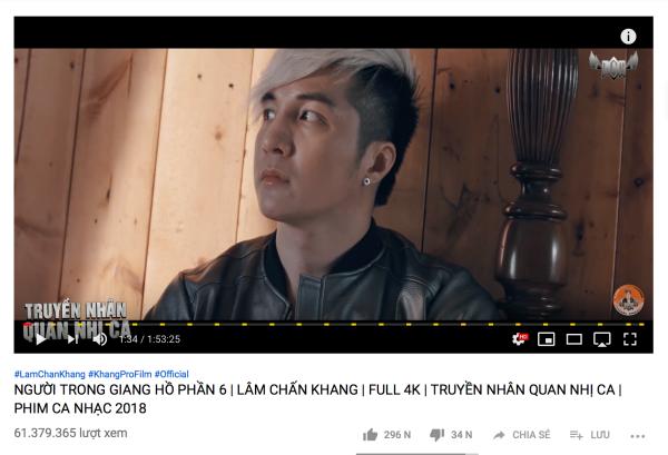 Người trong giang hồ đạt con số triệu view ấn tượng trong 2018.