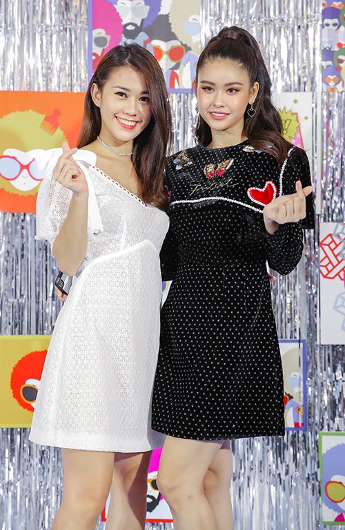 Hot girl Ngọc Thảo là một trong những khách mời có mặt sớm nhất để chung vui cùng đàn chị.