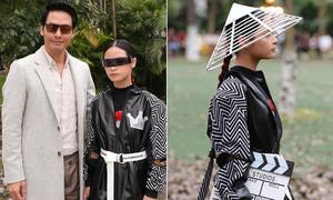 Con gái Phan Anh lớn phổng phao tuổi 11, tự tin làm vedette show thời trang