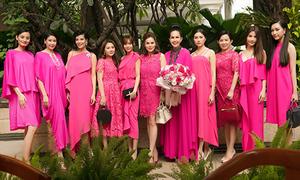 Hội chị em Vbiz diện đồ hồng rực mừng sinh nhật Diễm My
