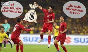 Nhận tiền thưởng Huy Hùng được fan chế ảnh 'bỗng dưng thành tỷ phú'