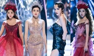 Dàn hoa hậu, á hậu đua nhau hóa công chúa, nữ hoàng trên catwalk