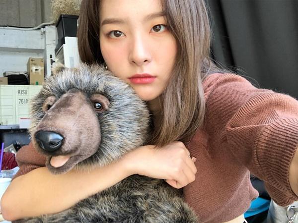 Gấu Seul Gi tự sướng mặt hình sự ra vẻ cool ngầu.