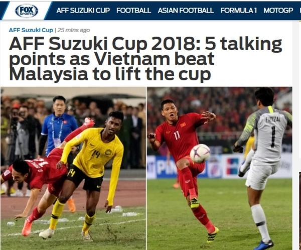 Bài phân tích sau trận đấu của chuyên trang Fox Sports Asia.