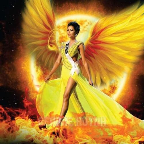 Từ nay hãy gọi Hen là Top 5 người đẹp nhất Hoa hậu Hoàn vũ Thế giới.