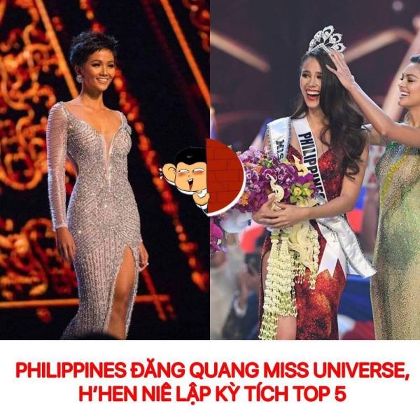 Ảnh chế, tranh chibi mừng HHen Niê lập nên lịch sử ở Miss Universe 2018