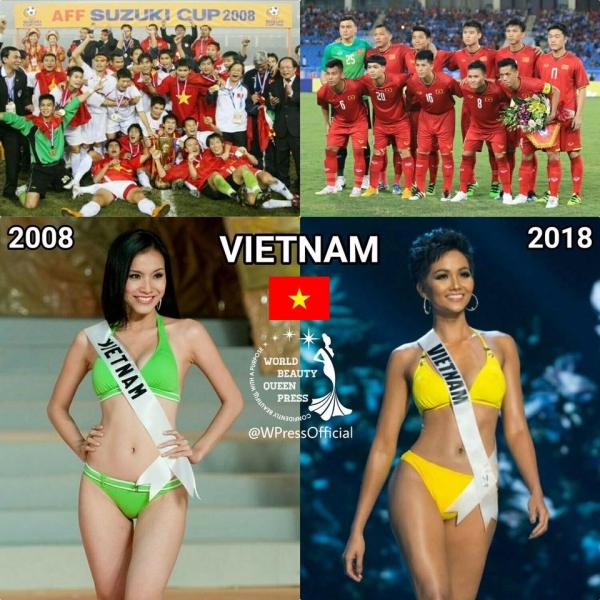 Nếu Việt Nam 10 năm sau mới vô địch AFF Cup thì ở Hoa hậu Việt Nam cũng lập lại kỳ tích vang dội hơn. 10 năm trước, đại diện Thùy Lâm là người tiến sâu nhất tại cuộc thi ở top 15 khi cuộc thi được tổ chức tại quê nhà.