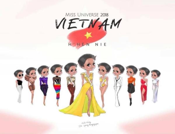 Ảnh chế, tranh chibi mừng HHen Niê lập nên lịch sử ở Miss Universe 2018 - 5