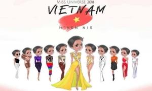 Ảnh chế, tranh chibi mừng H'Hen Niê vào Top 5 Miss Universe