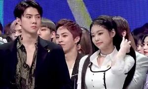 Đứng cạnh nhau, Jennie và Se Hun gây sốt vì quá đẹp đôi