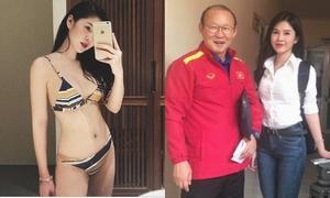 Báo Hàn chú ý tới cô gái sexy xuất hiện bên huấn luyện viên Park Hang-seo