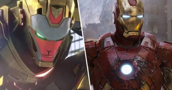 Tạo hình của Tôn Ngộ Không phiên bản mới của Trung Quốc (trái) và Iron Man.