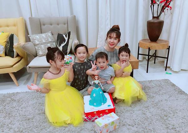 Minh Hà vắng ông xã, một mình tổ chức sinh nhật cho con gái.