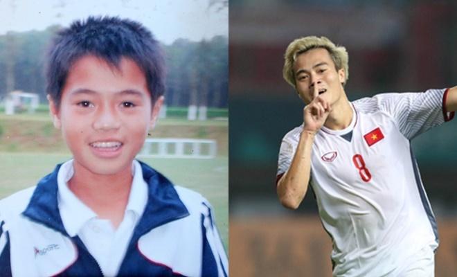 <p> Văn Toàn là một trong những cầu thủ tài năng được đào tạo từ Học viện Bóng đá Hoàng Anh Gia Lai. Hình ảnh ngày bé của chân sút sinh năm 1996 không có sự khác biệt quá nhiều so với hiện tại.</p>