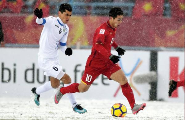 Công Phượng trong trận chung kết U23 châu Á hồi tháng 1/2018.