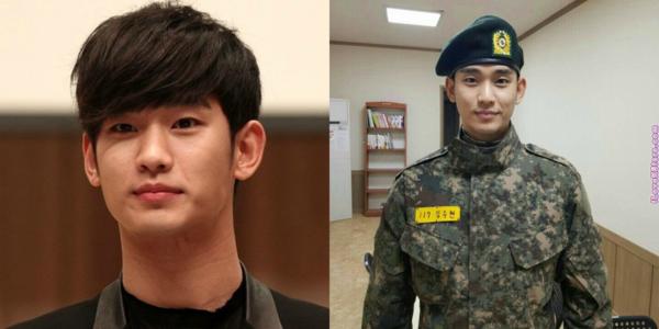 Kim Soo Hyun vẫn bảnh trai khi ở trong quân ngũ.