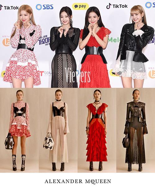 Black Pink mặc cả cây hàng hiệu nhưng vẫn bị chê khi xuất hiện trên thảm đỏ SBS Gayo Daejun.