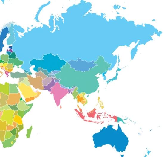 Nhìn bản đồ đoán vị trí các quốc gia