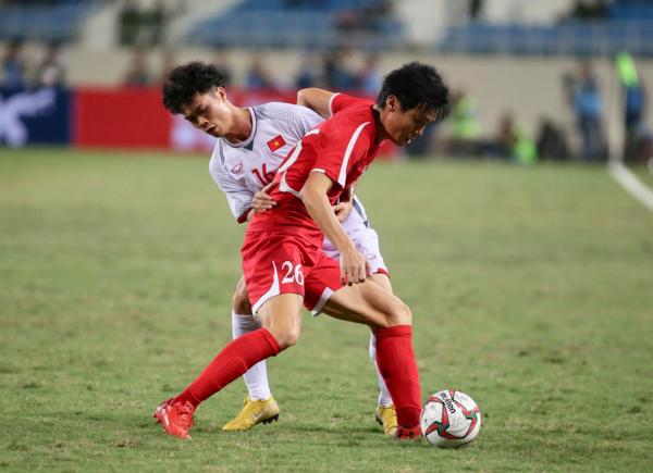 Trận đấu giữa ĐT Việt Nam - CHDCND Triều Tiên được đánh giá hấp dẫn.