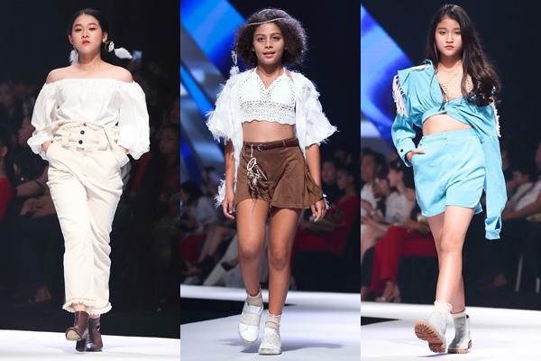 NTK Lavender Lim đến từ Malaysia trở lại Asian Kids Fashion Show năm nay với BST Dream Catcher. Dream catcher là vật trang trí quen thuộc được treo trên giường của nhiều gia đình với niềm tin những giấc mơ xấu sẽ tan biến, những giấc mơ tốt sẽ ở lại và an ủi giấc ngủ. BST mang phong cách Bohemina, sử dụng kỹ thuật dệt hiện đại, tạo hiệu ứng trên vải và họa tiết. Những màu sắc tự nhiên được kết hợp để tạo độ tương phản cho trang phục.