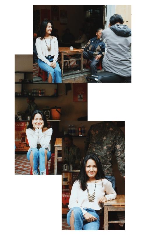 Hình ảnh của Linh Buzi trong chuyến đi.