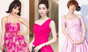 Dàn mỹ nhân 'nhuộm hồng' thảm đỏ show Đỗ Mạnh Cường