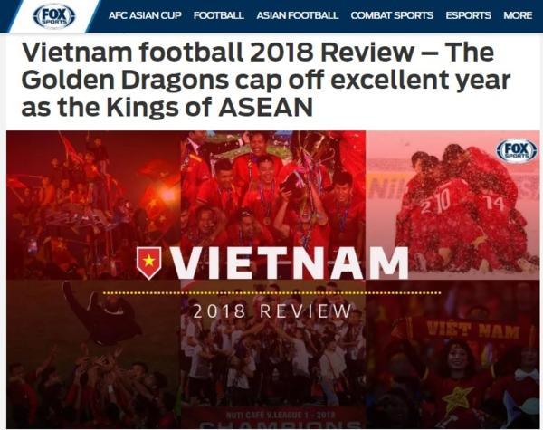 Báo châu Á ca ngợi bóng đá Việt Nam là Vua Đông Nam Á