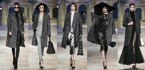 Đỗ Mạnh Cường gợi ý nhiều cách phối với một món đồ. Trên tay các người mẫu là những chiếc túi xách bạc tỷ.