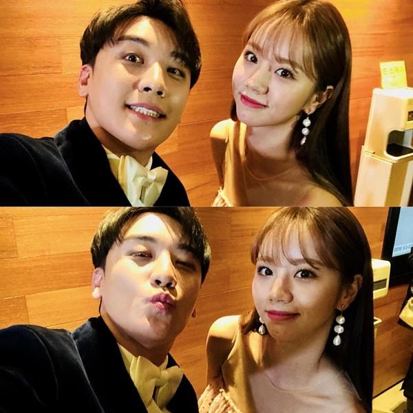 Seung Ri nhí nhố bên Hye Ri khi cùng dự sự kiện.