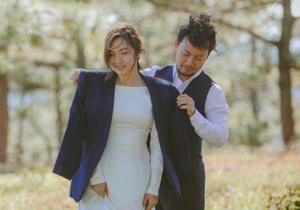 Ảnh cưới đậm chất ngôn tình của Tiến Đạt và bà xã.