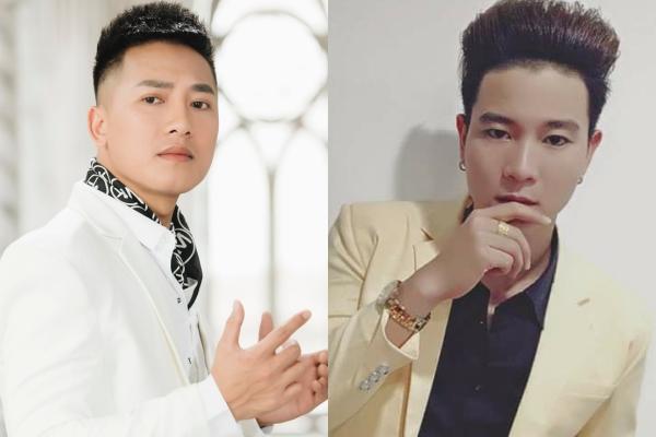 Châu Khải Phong và nhạc sĩ Đinh Tùng Huy (phải).