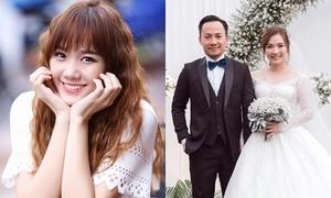 Hari Won khen vợ chồng Tiến Đạt đẹp đôi
