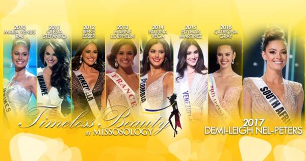 Các người đẹp từng thắng danh hiệu Hoa hậu đẹp nhất năm.