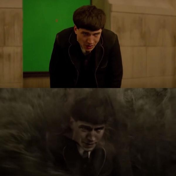 Cảnh phim trước và sau khi được thực hiện kĩ xảo.