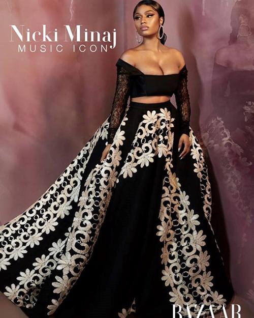 Trang phục của NTK gốc Việt Cory Trần được nữ ca sĩ Nicki Minaj khoác lên mình thiết kế
