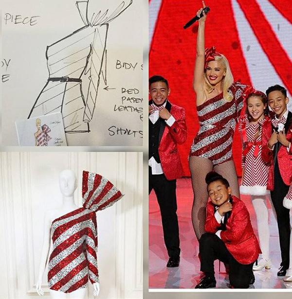 Gwen Stefani mang thiết kế phá cách của Công Trí lên sàn diễn.