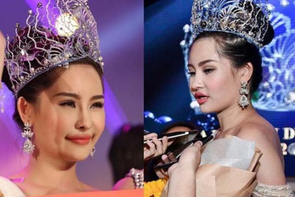 Nhan sắc Ngân Anh gây nhiều tranh cãi thời điểm mới đăng quang Hoa hậu Đại dương.