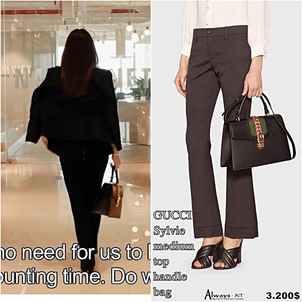 Mợ chảnh bản Việt còn xách túi Gucci Sylvie giá khoảng 75 triệu đồng.