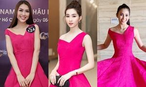 Đặng Thu Thảo đẹp 'ăn đứt' Tiểu Vy, Tường Linh khi diện chung váy