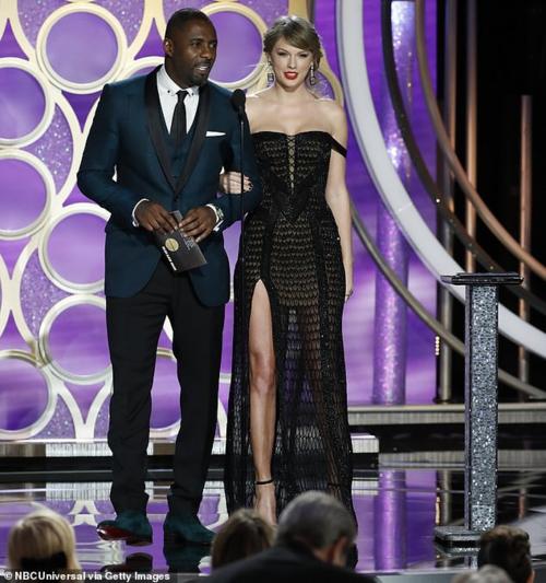 Taylor Swift bất ngờ xuất hiện trên sân khấu Quả cầu vàng với vai trò người trao giải.