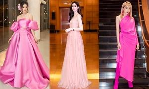 Những bộ váy hồng nổi bật trên thảm đỏ đầu năm 2019