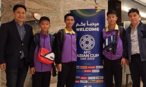 Đội bóng nhí Lợn Hoang đến cổ vũ tuyển Thái Lan ở Asian Cup 2019