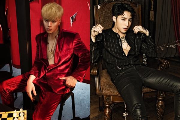 Hình ảnh Jayki và Sơn Tùng M-TP trong hai MV.