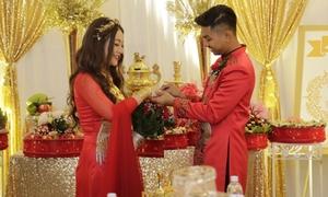 MiA đeo vàng đầy tay trong lễ rước dâu tại Vĩnh Long