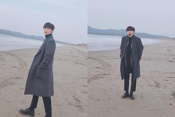Hwang Min Hyun biến hóa khó lường, giây trước còn giữ hình ảnh nam thần trên bãi biển, giây sau đã hiện nguyên hình.