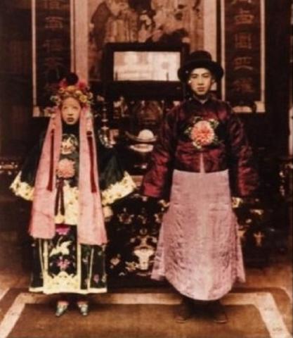 Hình ảnh minh hôn của người Trung Quốc xưa.