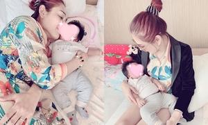 Lâm Khánh Chi khoe ảnh con trai do người khác mang thai hộ