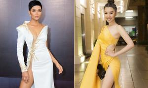 Sao Việt gây nơm nớp với váy xẻ siêu cao 'thách thức chọn nội y'