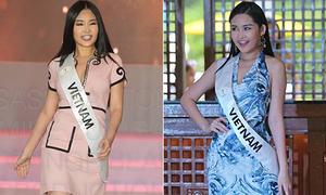 Ngân Anh liên tục bị chê trang phục ở Miss Intercontinental