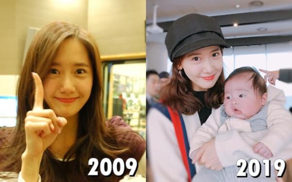 Yoon Ah phiên bản 19 và 29 tuổi trông chẳng có gì khác biệt, thậm chí cô nàng ngày càng xinh đẹp hơn.